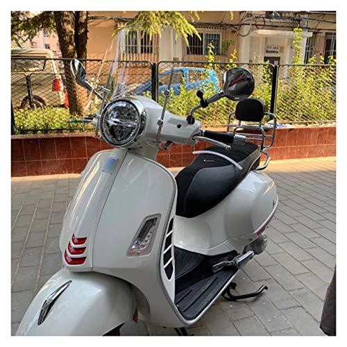 Alerón de parabrisas de motocicleta Parabrisas Doble Burbuja, Ajuste Fit For Piaggio Vespa GTS 300 Parabrisas Moto Deflector De Aire Accesorios Scooter Motocicleta Parabrisas Deflector de viento para