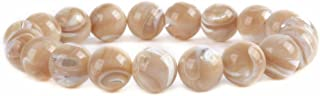 Justinstones Gem Semi Precious Gemstone 10mm Round Beads Stretch Bracelet 7 Inch Unisex