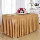 manteles del hotel, faldas de mesa de comedor en frío, manteles de conferencias, rectangulares, 120 * 60 * 75cm mantel ( Color : Oro )