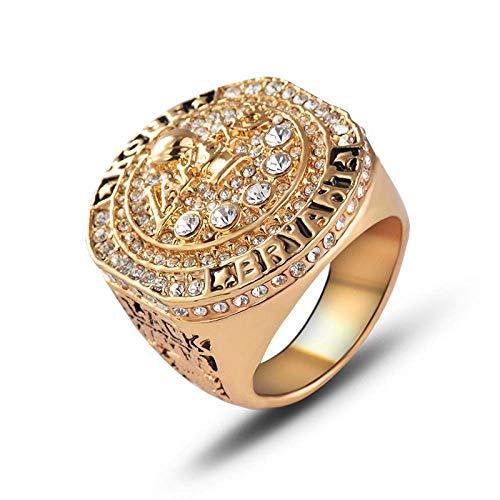 Champion Ring Fan High-End Collection Ring Fans Anillo de Decoración de Regalo, XIYUN, Oro, 10