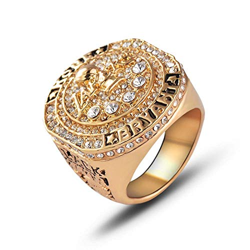 Champion Ring Fan High-End-Sammlung Ring Fans Geschenk Dekoration Ring, MN, Gold, 9