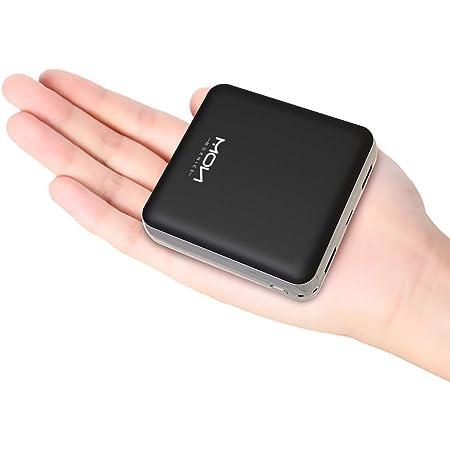 モバイルバッテリー 20000mah 大容量 MOXNICE 軽量 小型 急速充電 Micro USB入力ポート2.1A出力 2USBポート 携帯充電器 スマホバッテリー PSE認証済 iPhone/Android各種対応 (ブラック)
