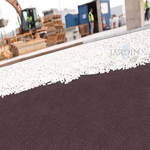 MALLA GEOTEXTIL marrón 1,2 x 10 m, 100 gr/m2 polipropileno. Para combatir las malas hierbas y maleza en la superficie del suelo
