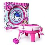 YAMMY Bricolage Jouet pour Les Enfants, Tricoter Kit Machine À Tricoter Conseil Rotating Double Tricot Laine...