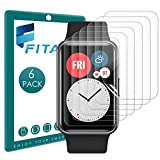 FITA 6 Stück Schutzfolie Kompatibel mit Huawei Watch Fit/Honor ES Bildschirmschutzfolie, 99.99prozent HD Flexible TPU Kratzfest Kristallklar Folie Kompatibel mit Huawei Watch Fit Smartwatch