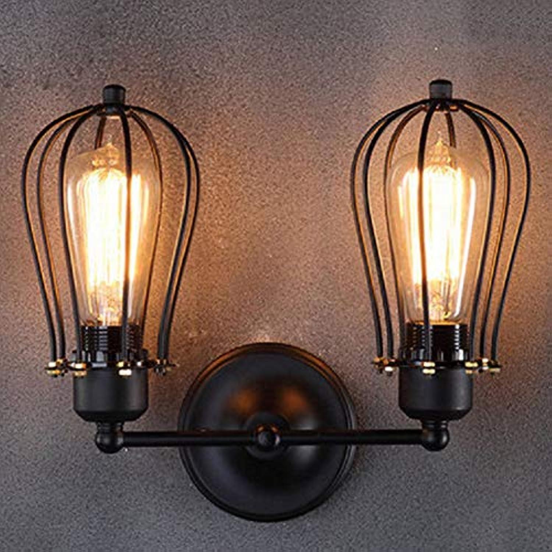 NHX Retro-Single-Doppelwandleuchte Rustikale Schmiedeeisen Antiken Restaurant Korridor Gang LED-Wand Light,B