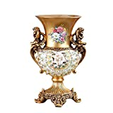 Vintage Jarrónes Flor Grande de Floreros Decorativo Mesa Resina Retra de Estilo Europeo para el...