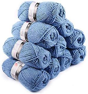 Laines Cheval Blanc - Lot 10 pelotes de fil à tricoter (10x50g) UTTACRYL 100% acrylique - 1300 m de fil pour tricot et cro...