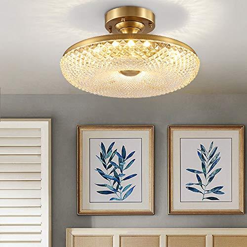 no-branded Sygjal Golden American Copper Ceiling Lamp Modern Light Copper Home Bedroom Study Lamp Living Room Aisle Corridor 500 * 230 (mm)