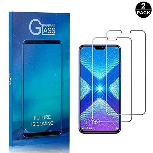 Bear Village® Displayschutzfolie für Huawei Honor 8X, Anti Fingerabdruck, Keine Luftblasen, Ultra klar Hart Schutzfilm aus Gehärtetem Glas für Huawei Honor 8X, 2 Stück
