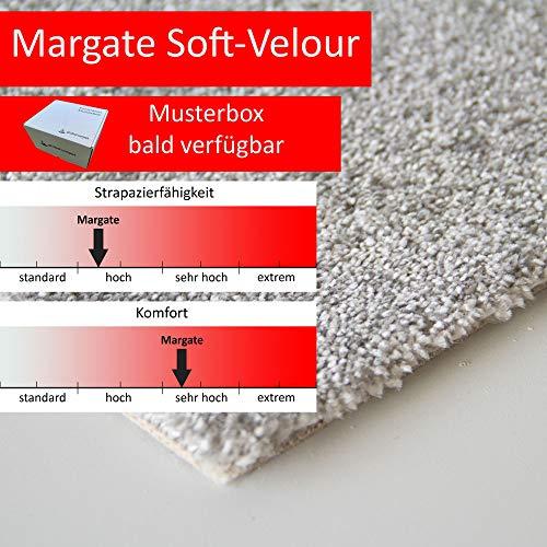 Steffensmeier Teppichboden Margate Meterware | Auslegware für Kinderzimmer Wohnzimmer Schlafzimmer | Grau, Größe: 300x400 cm