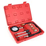 8PCS Professional Tester Test Kit Cylinder Compression Gas Engine Set Automotive...