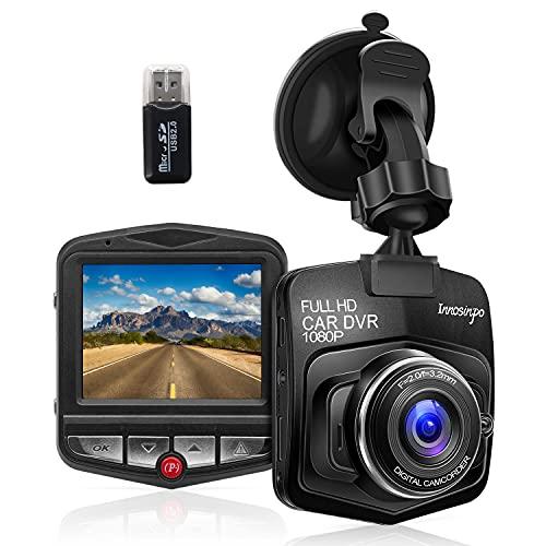 Zhiroad Cámara de Coche Grabadora Dash CAM 1080P Full HD,Visión Nocturna,G-Sensor,Monitor de Aparcamiento,Grabación en Bucle,Detección de Movimiento,Fácil instalación
