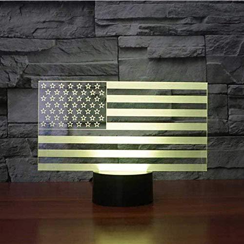 3D Illusion Lampamerican Vlag USB Kind Volwassene Geschenk Huismeubels