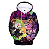 Splatoon Pullover Kids Pullover Printing Hoodie Children Hooded Sweatshirt Long Sleeve Street Style Tops Boys (Color : A04, Size : 110)