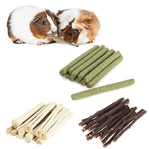 300g Hamster Natural Snack Kit Apfelstäbchen Timothy Hay Süßer Bambus Kauen Zähne Pflege Holzspielzeug für Gerbil Bunny Chinchilla Meerschweinchen Haustiere Futter