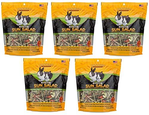 Sunseed Company 5 Pack of Vita Prima Sun Salad, 10 Ounces Each, High-Fiber Treat for Rabbits