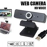 Cámara HD para Computadora, Webcam USB con Micrófono con Reducción de Ruido, 480p HD Cámara para PC Giratoria para Reunión/Curso por Internet/Videollamada