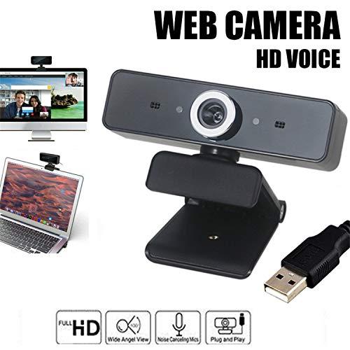 Cámara HD para Computadora, Webcam USB con Micrófono con