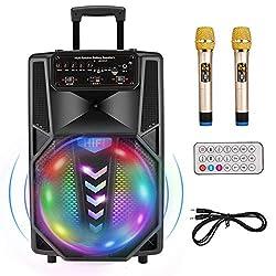commercial Portable karaoke machine, 12-inch subwoofer, wireless Bluetooth speaker, … wireless karaoke machines