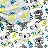 MAGAM-Stoffe Simon Eukalyptus Koala Wellness Fleece Stoff