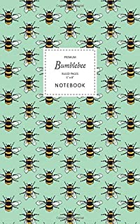 Bumblebee Notebook - Ruled Pages - 5x8 - Premium: (Green Edition) Fun notebook 96 ruled/lined pages (5x8 inches / 12.7x20....