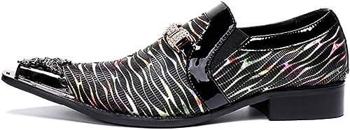 ¥zapatos Zapaños de Cuero Puntiagudos Formales de los hombres de tacón baño Casuales de Negocios
