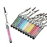 Asnlove 10x Universal Touchscreen Stift Touch Pen Strass Stylus Stift für Apple iPhone 6,Samsung Galaxy J5/A5/S6 Edge/G850,Sony Xperia Z2/Z3/M2/M4,Huawei P7/P8,Samsung Galaxy Tab 3 7.0 Lite T110