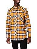 Wrangler Workshirt Camisa, Inca Gold, S para Hombre