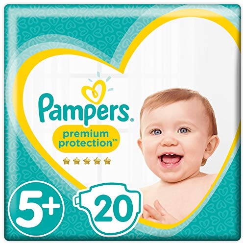 Pampers Premium Protection Windeln, Größe 5+ Junior Plus (12-17kg), 1er Pack (1 x 20 Stück)
