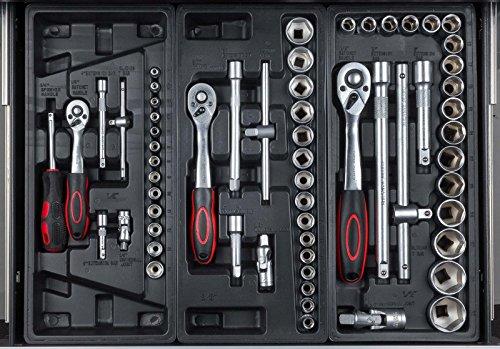 hanSe® Werkstattwagen gefüllt 245-teilig Werkzeug Werkstatt - 2