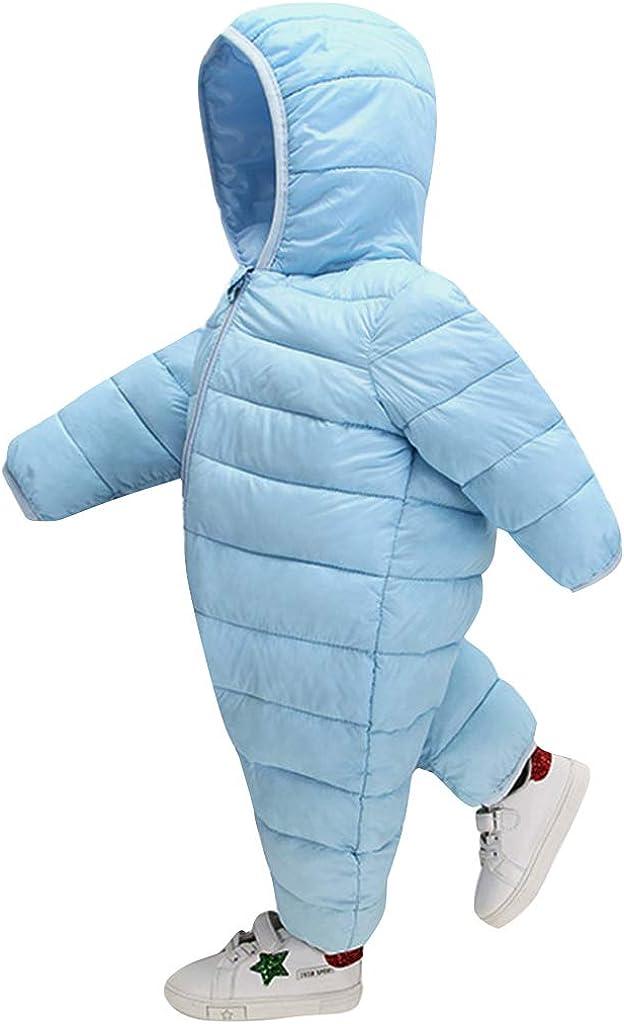 LISM Beb/é Invierno Chaqueta de Plumas Infantil Al Aire Libre Calentar Mameluco Mono para Ni/ñas Ni/ños Manga Larga Ligero Abrigos