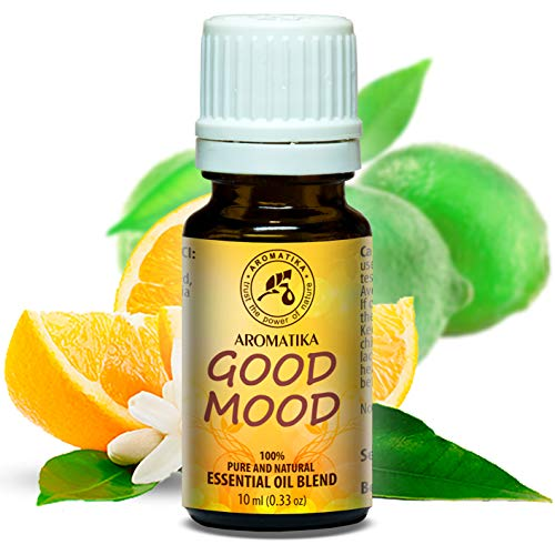 Duftmischung Gute Laune 10ml - Aromamischung mit Naturreinem Lime Öl & Orangenöl - Duftkomposition am Besten für Gute Stimmung - Guten Schlaf - für Aromatherapie - Aroma Diffuser - Good Mood