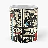 The Jazz Rythm (Full Version) – Taza de café de cerámica de mármol blanco