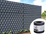 Sichtschutz anthrazit, 25 Meter - zur Anbringung an Doppelstabmatten - Lärm-, Sicht- & Windschutz -...