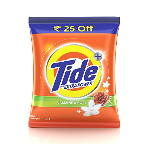 Tide Plus Extra Power Detergent Washing Powder - 2 kg (Jasmine and...