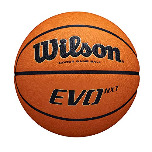 Wilson Unisex-Erwachsene EVO NXT GAME BALL Basketbälle, Für Halle geeignet, Komposit-Material, WTB0901XB, Orange/Brown, Official- 28.5