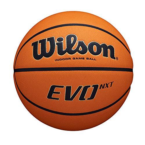 Wilson Unisex-Erwachsene EVO NXT GAME BALL Basketbälle, Für Halle geeignet, Komposit-Material, WTB0901XB, Orange/Brown, Official-29.6