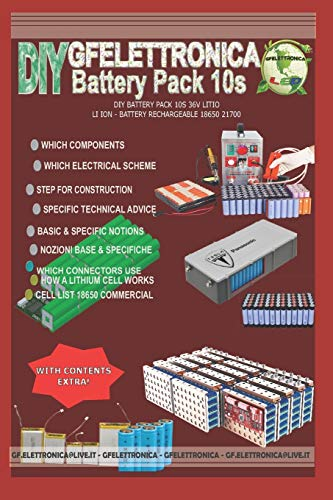 DIY BATTERY PACK 10S 36V LITIO - LI ION - BATTERY RECHARGEABLE 18650 21700