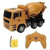 FEBT Juguetes de Camiones de hormigón, Modelo de Equipo de construcción de ingeniería de 6 Canales 2.4G Coche Mezclador de Control Remoto de luz de estimulación 1:18, Camiones de Juguete para niño