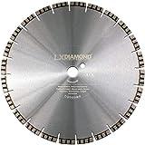 LXDIAMOND Disco de corte de diamante, 450 mm x 30 mm, para hormigón, piedra y hormigón armado, universal, apto para sierra de piedra, lijadora de corte, Motorflex, cortador de juntas, 450 mm