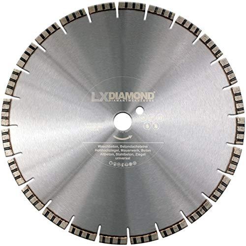 LXDIAMOND Diamant-Trennscheibe 400mm x 25,4mm Premium Laser Diamantscheibe Betonscheibe für Stein Beton Stahlbeton Universal passend für Steinsäge Trennschleifer Motorflex Fugenschneider 400 mm