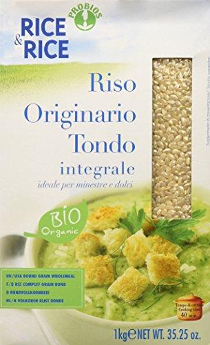 Probios Rice&Rice  Rice Originario  Tondo Integrale,  Confezione da 6