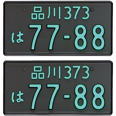 【2枚セット】井上工業 字光式ナンバープレート照明器具 2468-12V-G ガンメタ LEDパーフェクトecoII 普通車用 (カー用品)