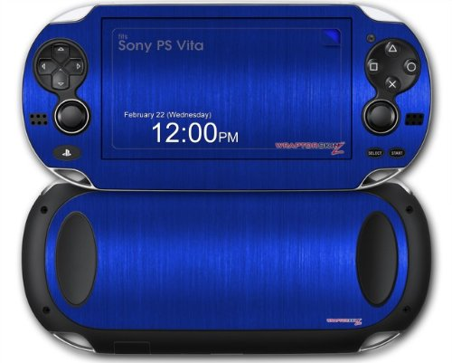 Sony PS Vita Skin Brushed Metal Blue by WraptorSkinz