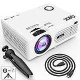 QKK 2021 Upgraded 6500Lumens Mini Projector, Full HD 1080P &...