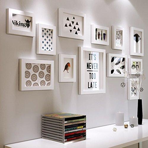 GBBD Bilderrahmen Foto Wand Hintergrund Wand Kreative Fotoalbum Wand Mode Einfachen Wohnzimmer Schlafzimmer Flur Treppe Restaurant Bilderrahmen Wand (Farbe : Weiß)