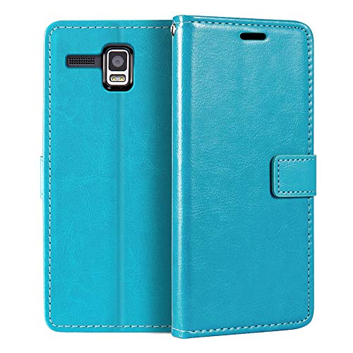 Lenovo Golden Warrior A8 Wallet Case, Premium PU Leather Magnetic Flip Case Cover with Card Holder and Kickstand for Lenovo A8 A806