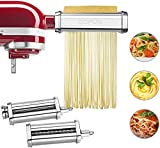 Accesorio para pasta para batidora de pie KitchenAid, máquina de pasta 3 en 1 Accesorios para...