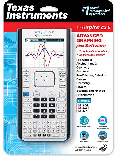 Texas Instruments TI-Nspire CX II Color Graphing Calculator with Student Software (PC/Mac) & TI-Nspire CX II CAS Color Graphing Calculator with Student Software (PC/Mac) Photo #6